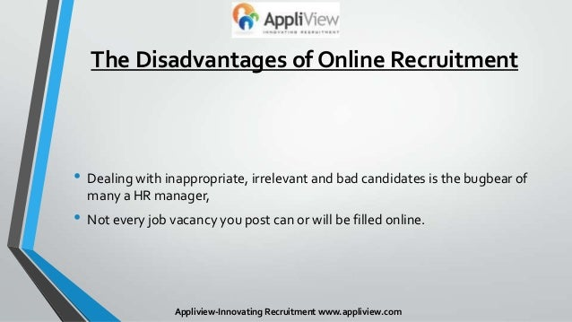disadvantages of online job searching