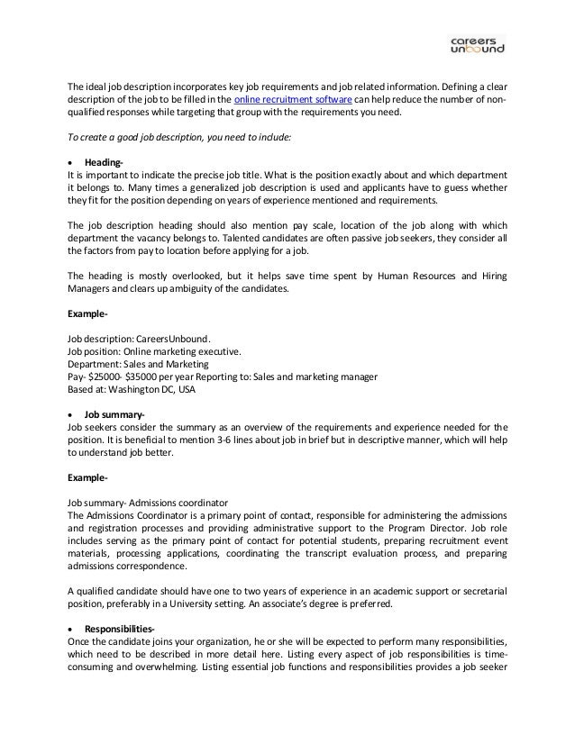 Human Resources Associate Job Description