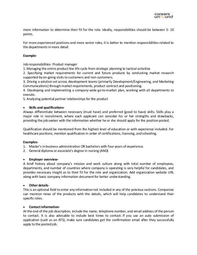 Online Recruitment Software - Writing Ideal Job Description To Find B…