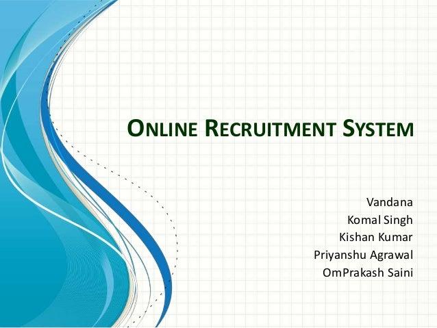 online recruitment website