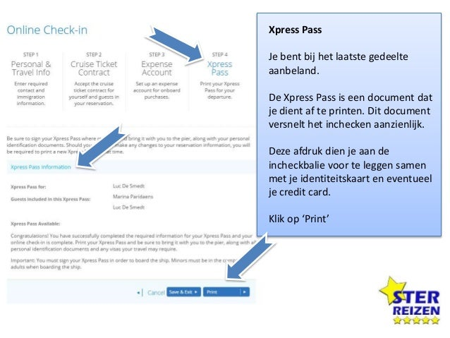 Xpress Pass Vink het 2e vierkantje aan (dit zorgt voor de voordeligste omzetting van Dollar naar Euro). Scroll terug naar ...