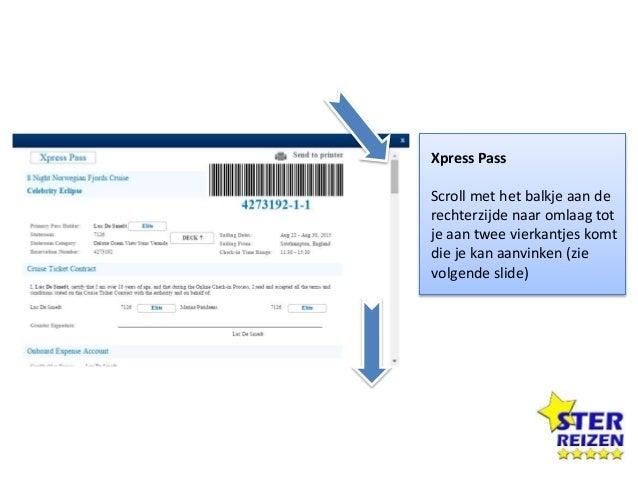 Online Check-in Als je terugkeert naar Online Check-in, dan bekom je dit overzicht. Wanneer je over 8 vinkjes beschikt dan...