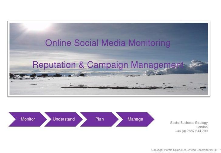 Online reputation & campaign monitoring   full deck - pdf