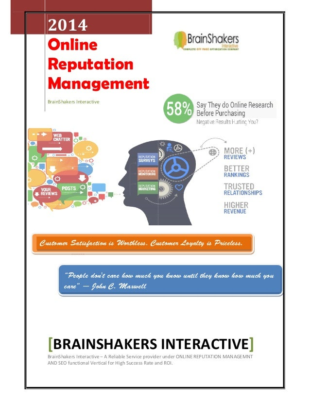 2014 Online Reputation Management BrainShakers Interactive [BRAINSHAKERS INTERACTIVE] BrainShakers Interactive – A Reliabl...