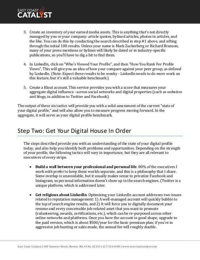 Online reputation management checklist Slide 2
