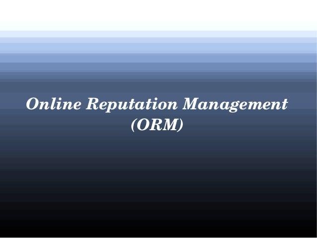 OnlineReputationManagement (ORM)