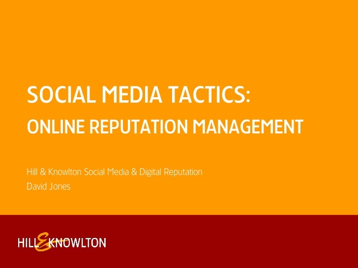 Social Media & Online Reputation