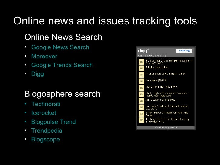 Online reputation tracking tools Slide 3