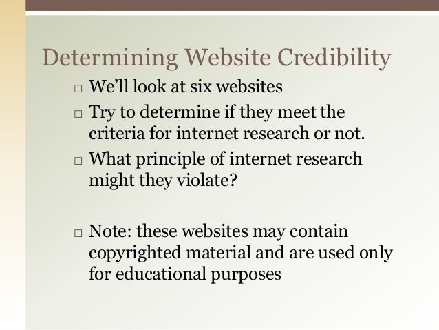 credible websites for research When writing a research paper, always use and cite credible sources  military  websites end in gov or mil, and in general are among the most reliable sources .