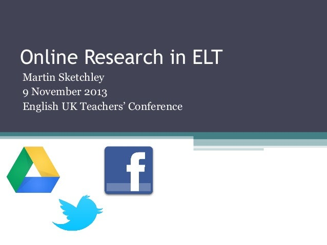 research in elt The tesol research agenda reports on emerging research trends and questions (practical and theoretical) in the field of english language teaching it aims to stimulate discussion and create networking opportunities for tesol members and other elt professionals worldwide.