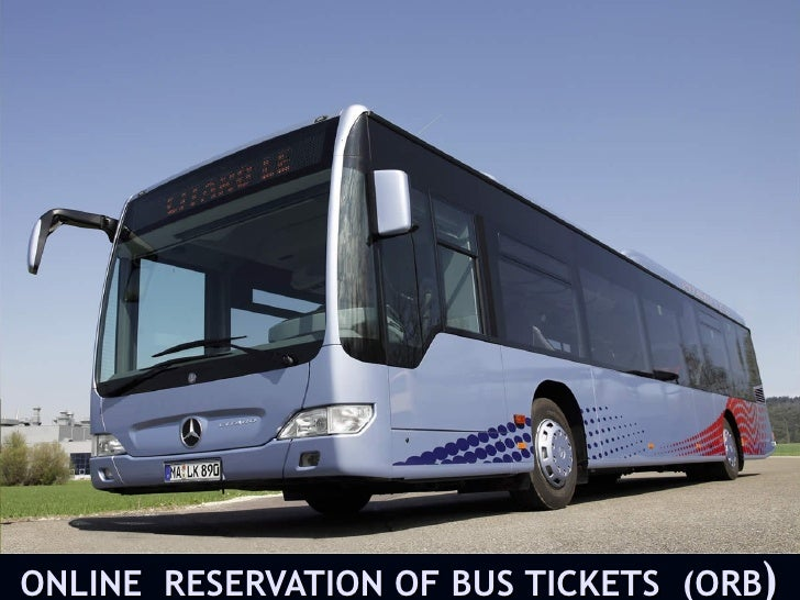 Online reservation of bus