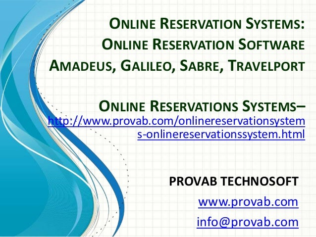 Reservations Software