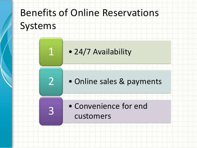 Online reservation system of gowns