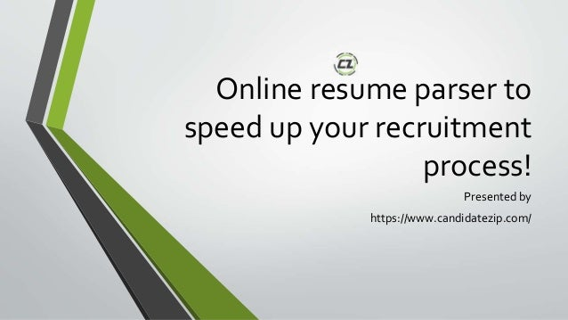 online resume parser to speed up your recruitment