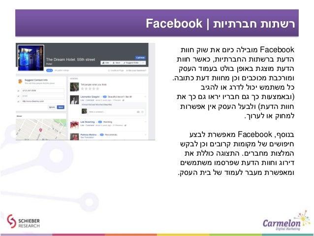 חברתיות רשתות Facebook Facebookחוות שוק את כיום מובילה החברתיות ברשתות הדעת,חוות כאשר העסק בעמו...