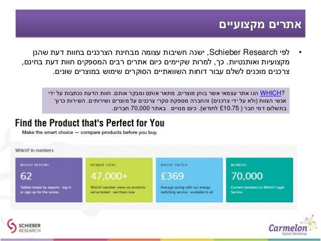 מקצועיים אתרים •לפיSchieber Research,שהנן דעת בחוות הצרכנים מבחינת עצומה חשיבות ישנה ואותנטיות מק...