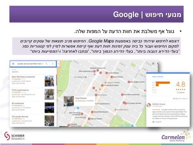 חיפוש מנועי Google •שלה המפות על הדעת חוות את משלבת אף גוגל. באמצעות כביסה שירותי לחיפוש דו...
