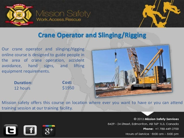 Overhead crane training edmonton : Crane and rigging training edmonton the best of