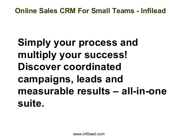 Online sales crm for small teams infilead