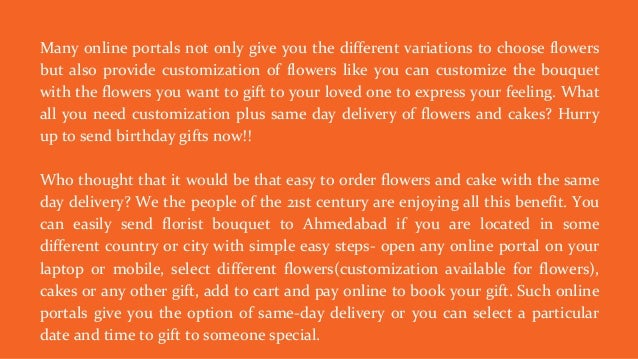 Online Same Day Flower And Cake Delivery In Ahmedabad
