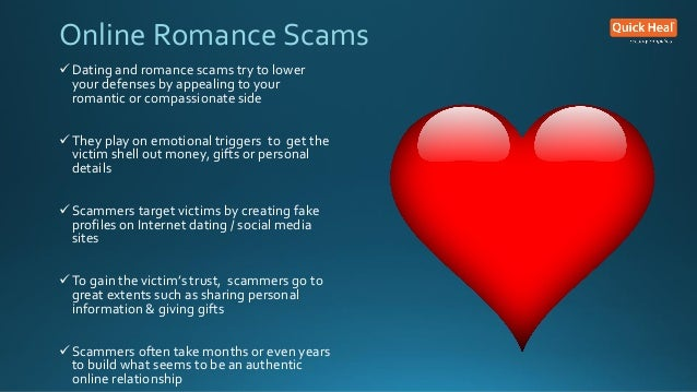 Scams through online dating