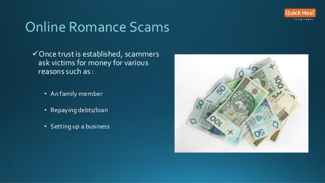 Online dating scam asking for money