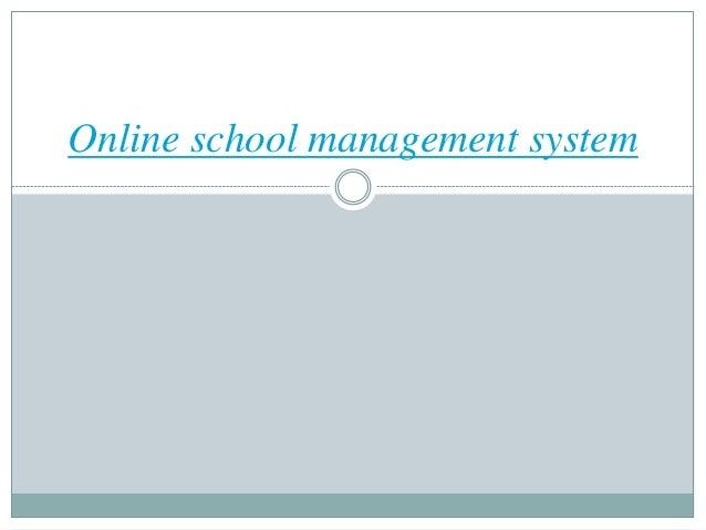 Online school management system
