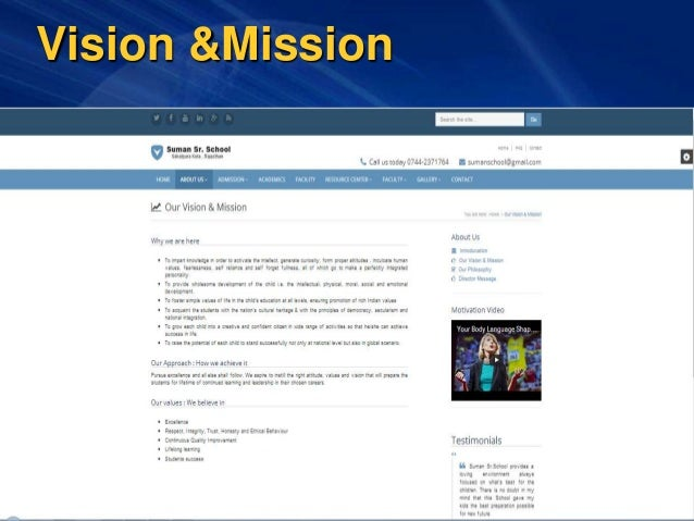 Vision &Mission