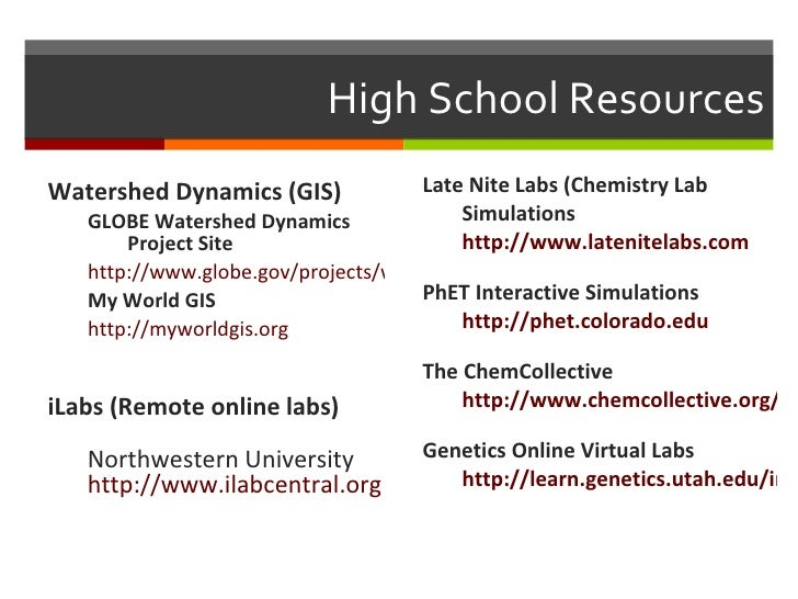 Online Science & Virtual Labs