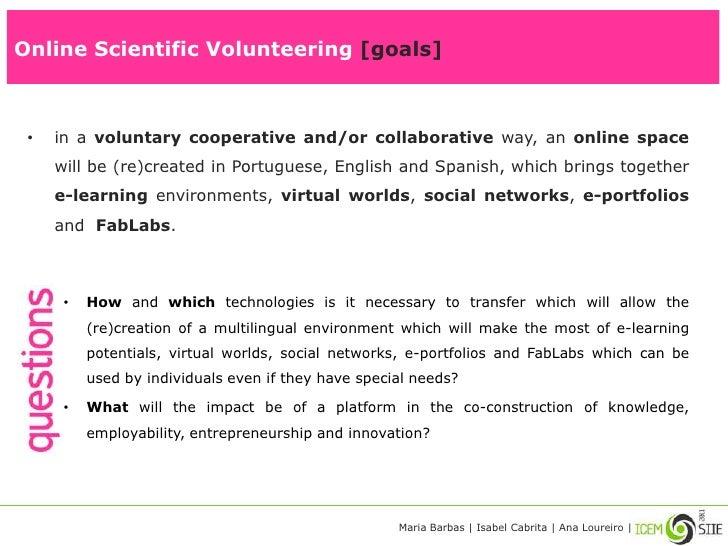 Online scientific volunteering   icem-siie2011 Slide 3