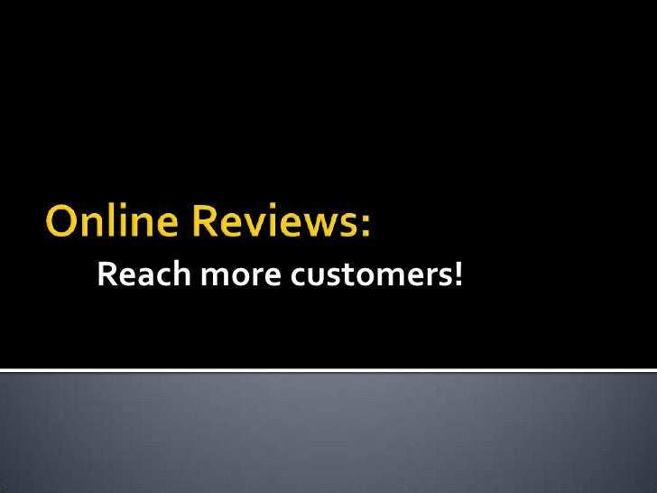 Reach more customers!