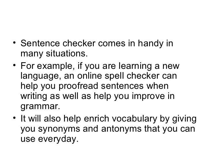 online sentence checker