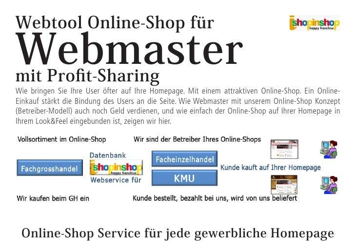 Webtool Online-Shop für  Webmaster mit Profit-Sharing Wie bringen Sie Ihre User öfter auf Ihre Homepage. Mit einem attrakt...