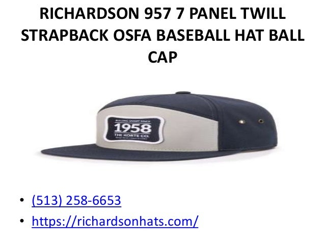 4161c5bf ... 9. RICHARDSON 957 7 PANEL TWILL STRAPBACK ...