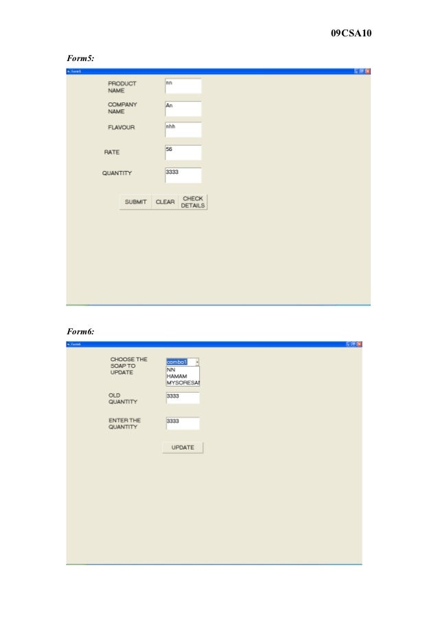 09CSA10Form5:Form6: