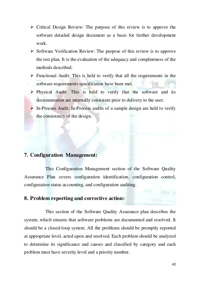 Critical Design Review: The purpose of this review is to approve the      software detailed design document as a basis f...