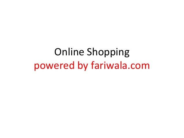Online Shopping powered by fariwala.com