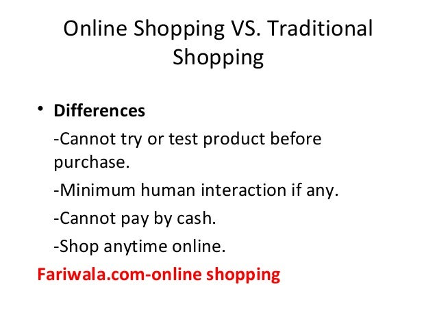 Comparison of Traditional and Online Shopping Essay Sample