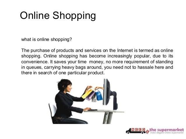 Online grocery shopping presentation