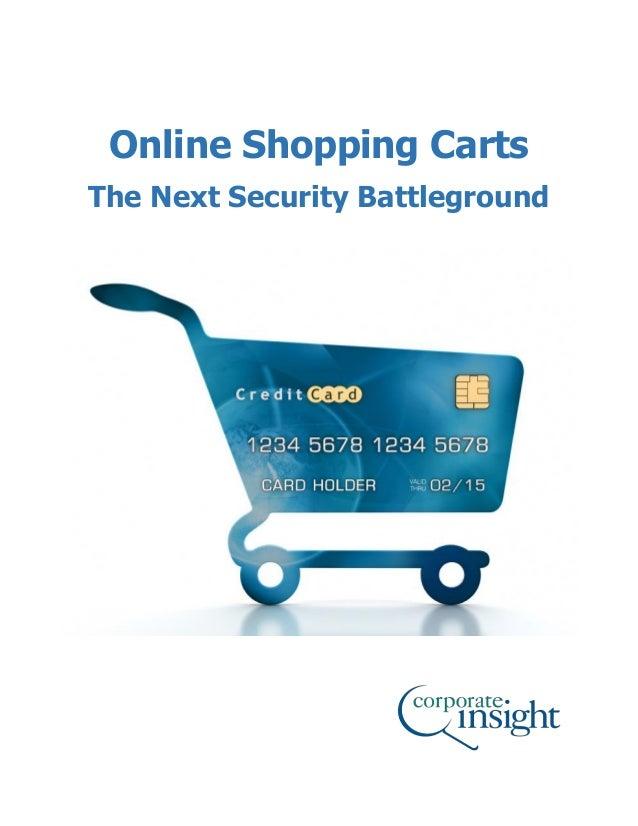 1 Online Shopping Carts The Next Security Battleground