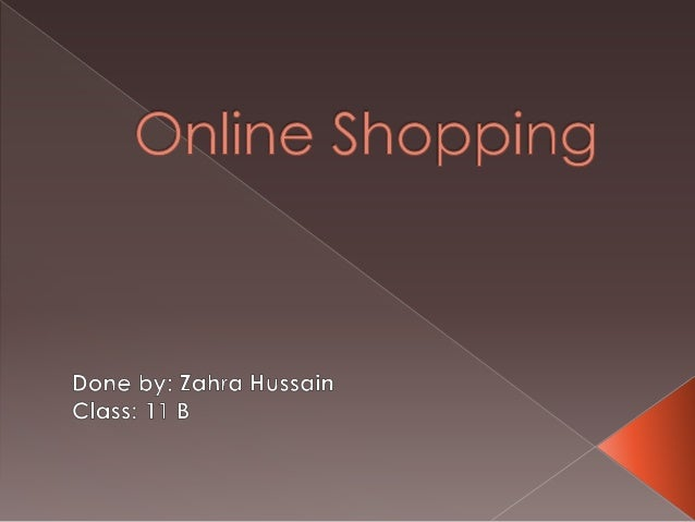 online shopping powerpoint