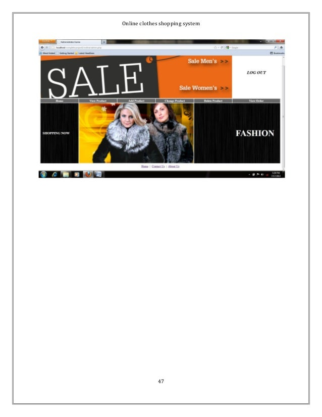 Online clothes shopping system  47