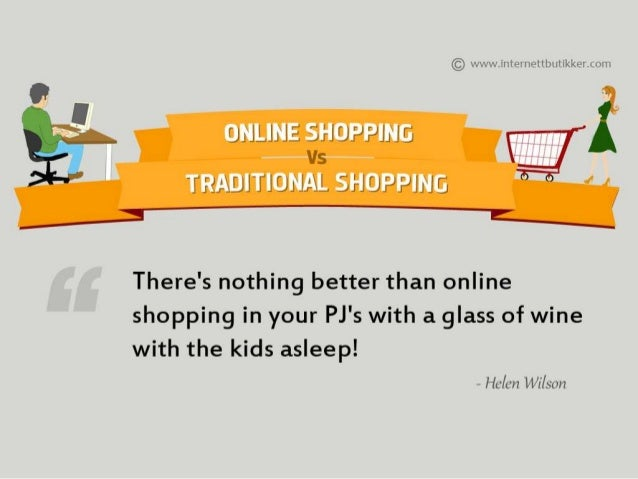 comparison essay between online shopping and traditional shopping