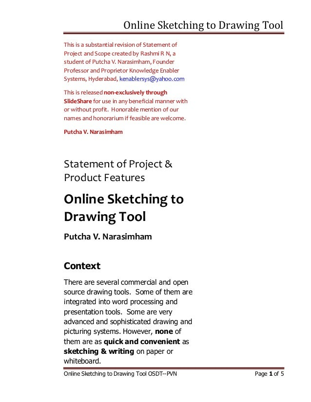 Online Sketching to Drawing ToolOnline Sketching to Drawing Tool OSDT--PVN Page 1 of 5This is a substantial revision of St...