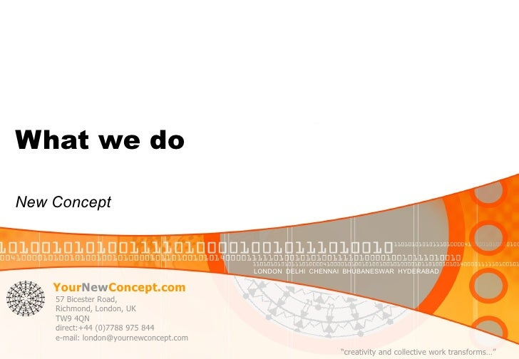 What we do New Concept
