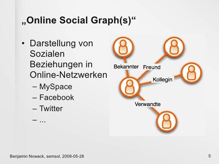 """""""Online Social Graph(s)""""       • Darstellung von        Sozialen        Beziehungen in        Online-Netzwerken           ..."""