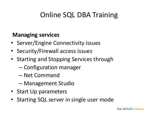 Online sql training