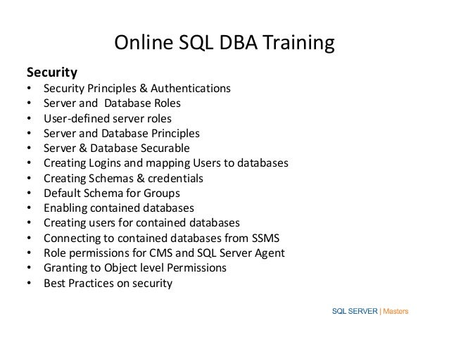 Training for Microsoft SQL Server certifications
