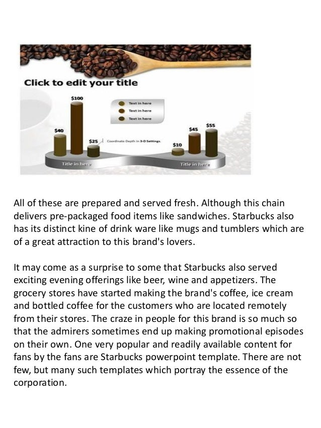 online starbucks powerpoint template and presentation, Modern powerpoint