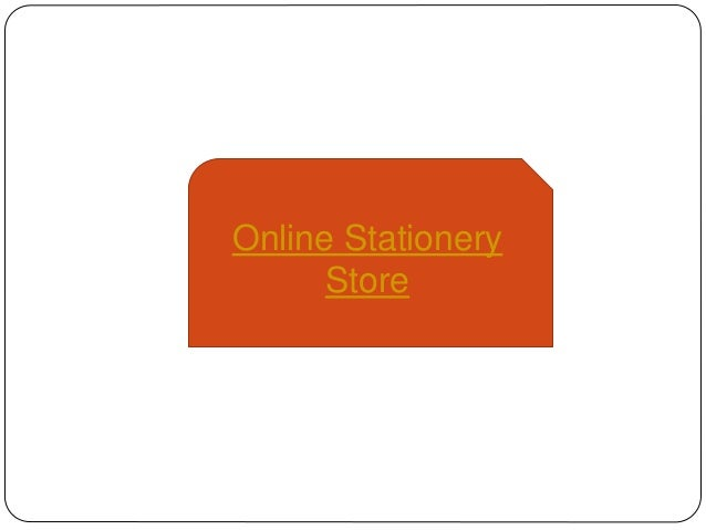 Online Stationery Store